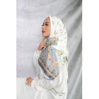 Radsyah Collection Alesha square hijab segi empat Premium Silk - Putih