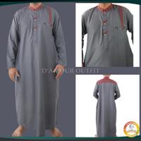 Gamis Muslim Pria/Kurta Pakistan/Baju Koko AL Fata Lengan Panjang