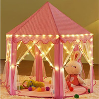 Tenda Anak Princess Castle Jumbo Mainan Anak Outdoor Portable RS06-1 - Merah Muda