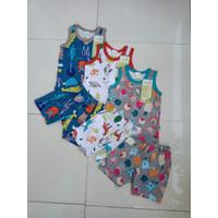 Baju Bayi | Baju Setelan tangan Kutung Merk Velvet 6 -12 Bulan