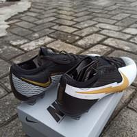 Sepatu Bola Nike Mercurial Vapor Elite 13 Black White Yellow FG