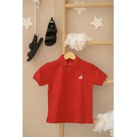 Polo Shirt Anak Little Warren Merah