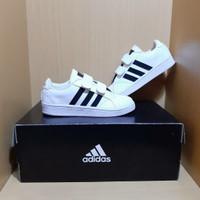 Sepatu Anak Adidas Neo White Black Great Original