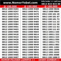 Nomor nomer cantik kartu perdana murah telkomsel simpati