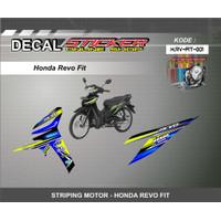 DEKAL STIKER MOTOR HONDA REVO FIT STRIPING MOTIF RACING 01-02