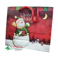 Christmas Paper bag / Tas Kado+kartu Natal 18x16 cm / Xmas gift + card