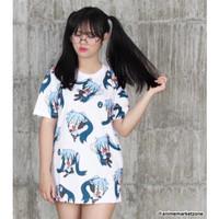 Kaos Hatsune Miku Chibi Full Print Baju T-Shirt