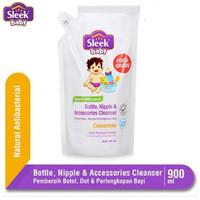 Sleek Baby Bottle Nipple & Accessories Cleanser Refill Pouch 900 ml