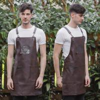 Full Apron/Celemek Coffee Pu leather quantum premium for barista