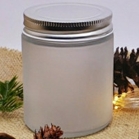 FROSTED GLASS JAR/GELAS LILIN AROMATERAPI ,TEBAL BURAM