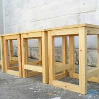 kursi kotak minimalis/kursi bakso/kursi resto kayu jati belanda
