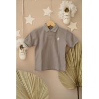 Polo Shirt Anak Little Warren Abu - Abu