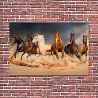 Poster Kuda Hiasan Dinding Wall Decor Kayu ukuran 70 cm x 100 cm