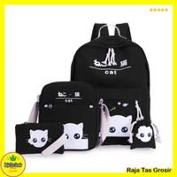 Tas Sekolah Anak Perempuan SD - Motif Kucing Intip RTG019