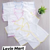 3 pcs Baju Bayi Putih Polos BOBOKO Lengan Pendek Newborn 0-6 Bulan