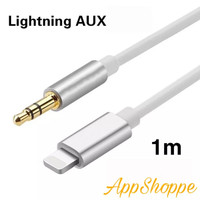 Aux Cable 3.5mm Jack Male TRS TO iOS Lightning 8pin iPhone 1m Kabel