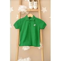 Polo Shirt Anak Little Warren Hijau