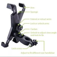 holder hp sepeda motor holder X bicycle phone holder jepitan hp
