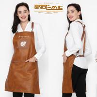 Full sintetis leather apron quantum premium for barista