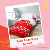 Sprei Lady Rose 900x200 / 160x200 / 180x200 Bed Cover Motif Scarlet