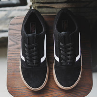 Sepatu Sneakers Pria Tali Vans Old School Sol Coklat Black Gum Keren