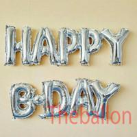 Balon Foil Happy Birthday Huruf Sambung / Balon Ulang Tahun - Gold