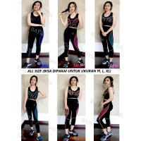 Setelan Baju+Celana 7/8 Legging Senam/Olahraga/Sport/Zumba Wanita