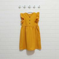 BAJU ANAK PEREMPUAN DRESS 6-7 TAHUN DAILY DRESS ELSA - mustard, 6-7 tahun