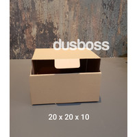 Kardus 20x20x10 cm....Die Cut kotak Kue tart -aksesoris-dll