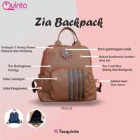 Zia Back pack Tas 2in1 TAS RANSEL WANITA BAHAN KULIT SINTETIS QUINTA