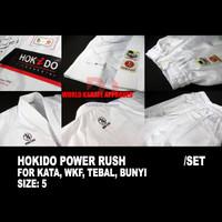 BAJU KARATE HOKIDO POWER RUSH FOR KATA, size 5