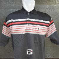 BALOK B - 12 (XXL) - Kaos Polo Shirt Salur Pria Saku / Wangki Kerah.