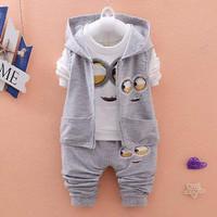 Setelan minion Kids 3in1/setelan anak laki/baju anak cowo/fashion anak