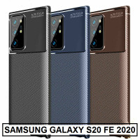 Case Samsung Galaxy S20 FE 2020 Carbon Softcase Slim Soft Cover Casing