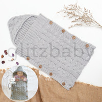 GlitzBaby Selimut Bayi Bedong Instan / Newborn Sleeping Bag