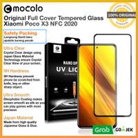 Mocolo Full Tempered Glass Xiaomi Poco X3 NFC - Anti Gores Pocophone - Depan Aja