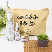 Lucciola Essentials Bright Me Now Paket Brightening Face Care Set.