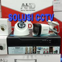 PAKET CCTV 4 CH XMEYE 2 KAMERA HIKVISION 5 MP FULL HD 1TB HARDDISK