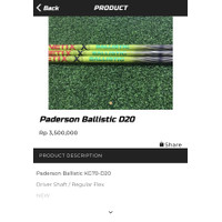 Paderson balistic d20 golf shaft