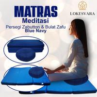 Matras/Bantal/Alas Meditasi Persegi Zabutton & Bulat Zafu Navy Blue