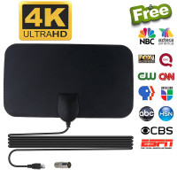 Taffware Antena TV Digital DVB-T2 4K High Gain 25dB - TFL-D139 - Black