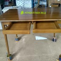 Meja kantor - meja kerja - kayu jati