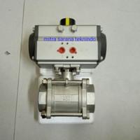 Stop Kran/ Ball valve Pneumatic actuator double acting drat 3/8 inchi