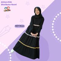 Baju Gamis Anak Perempuan Rg37 Hitam Raggakids Usia 2 - 11 tahun