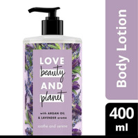 Love beauty and planet body lotion Argan oil&lavender kemasan 400ML