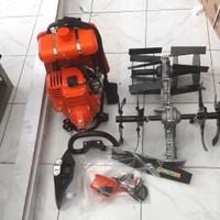 paket Mesin rumput BG 328+2 cultivator bajak sawah mini