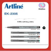 SPIDOL DRAWING PEN MARKER ARTLINE EK-2305 0.05 MM