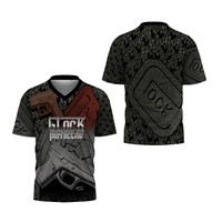 T-Shirt V-Neck Pria GLOCK FullPrint ART 4