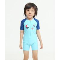 Lee Vierra Kids Nautical Boat Diving Baju Renang Anak Blue - 0