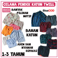 Celana Pendek Anak/Celana Katun Twill/Celana Cargo/Celana Harian/Celan
